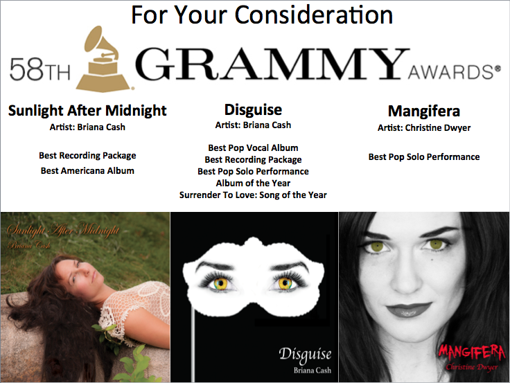 58th Grammy Awards Artwork